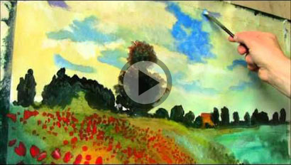 Claude Monet painting on Youtube