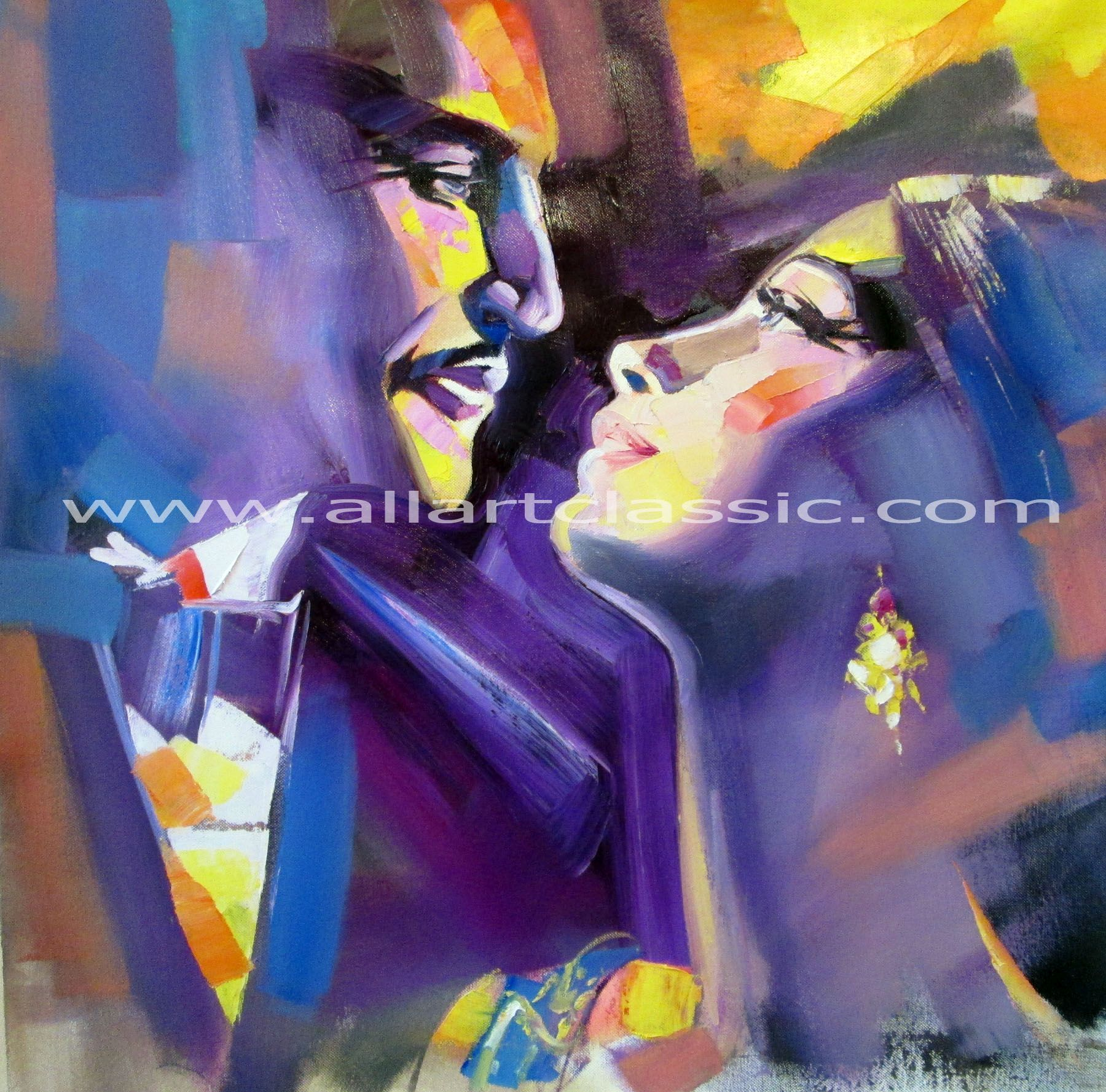 Original Painting - Love Couple Wall art