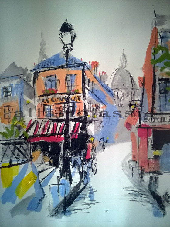 Original Montmartre-Acrylic Decor Art