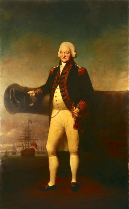 Lemuel Francis Abbott Reproductions- Sir Peter Parker Bt, 1721-1811, Admiral of the Fleet , 1799