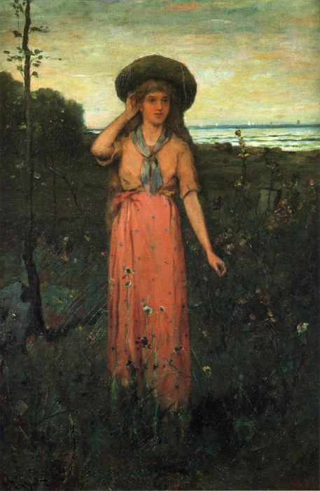 Abbott Fuller Graves Reproductions-Picking Flowers by the Sea