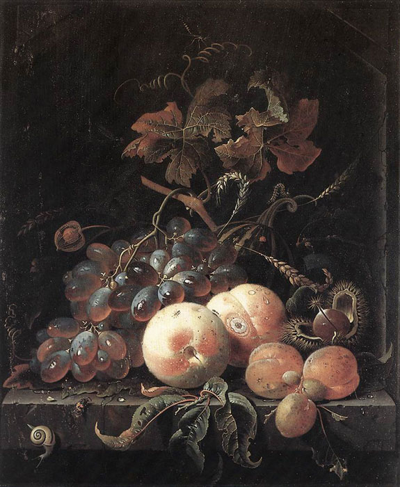 Abraham Mignon Reproductions-Still-Life with Fruits,  1660