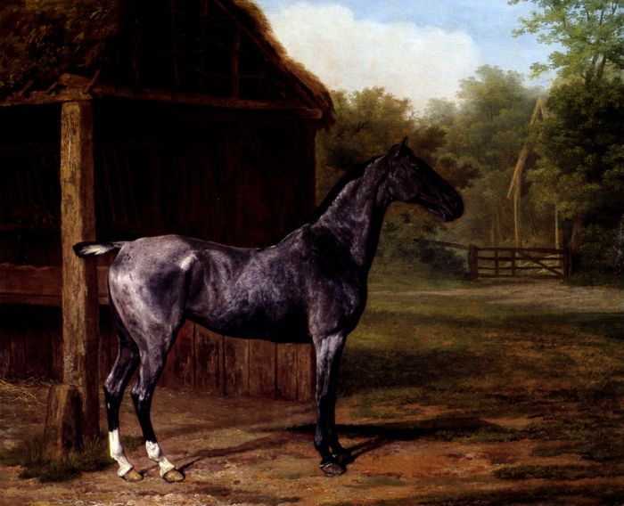 Jacques-Laurent Agasse Reproductions-Lord Rivers' Roan mare In A Landscape