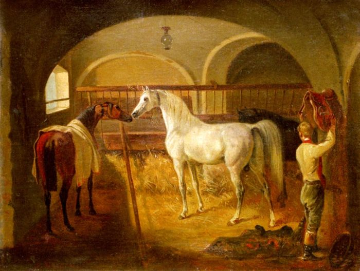 Jacques-Laurent Agasse Reproductions-Inside the Stable