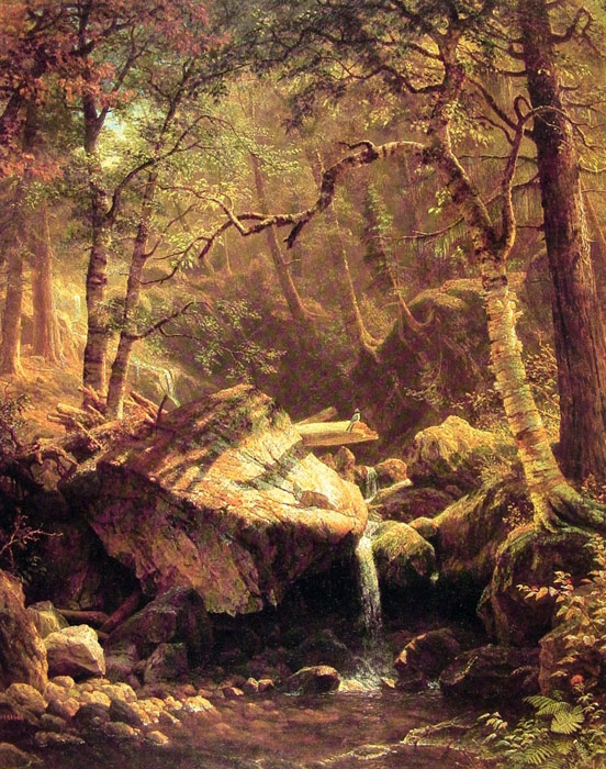 Paintings Reproductions Bierstadt, Albert The Mountain Brook, 1863