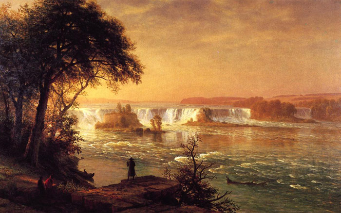 Albert Bierstadt Reproductions-The Falls of St. Anthony, 1880-1887
