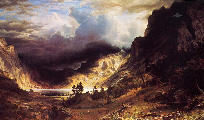 Albert Bierstadt Reproductions-A Storm in the Rocky Mountains, Mr. Rosalie , 1866