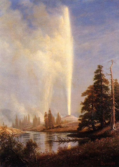 Paintings Reproductions Bierstadt, Albert Old Faithful