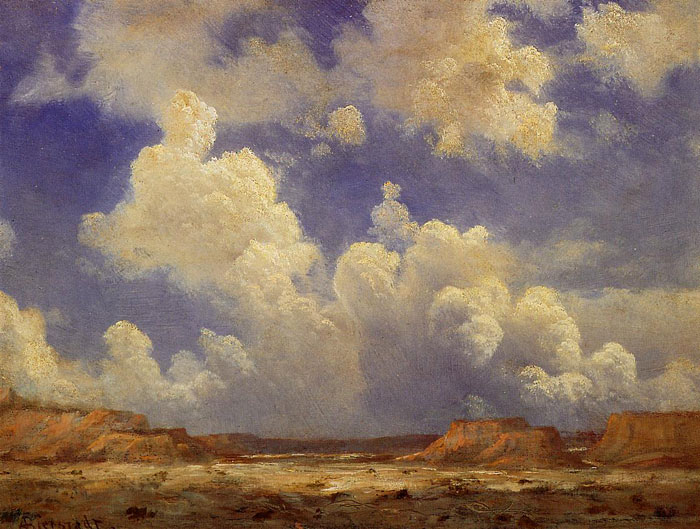 Paintings Reproductions Bierstadt, Albert Western Landscape