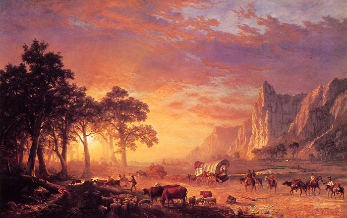 Paintings Reproductions Bierstadt, Albert The Oregon Trail , 1869