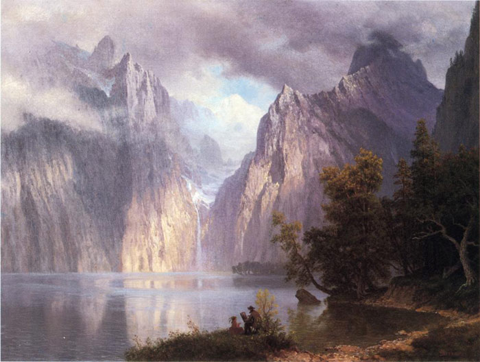 Paintings Reproductions Bierstadt, Albert Scene in the Sierra Nevada , 1861