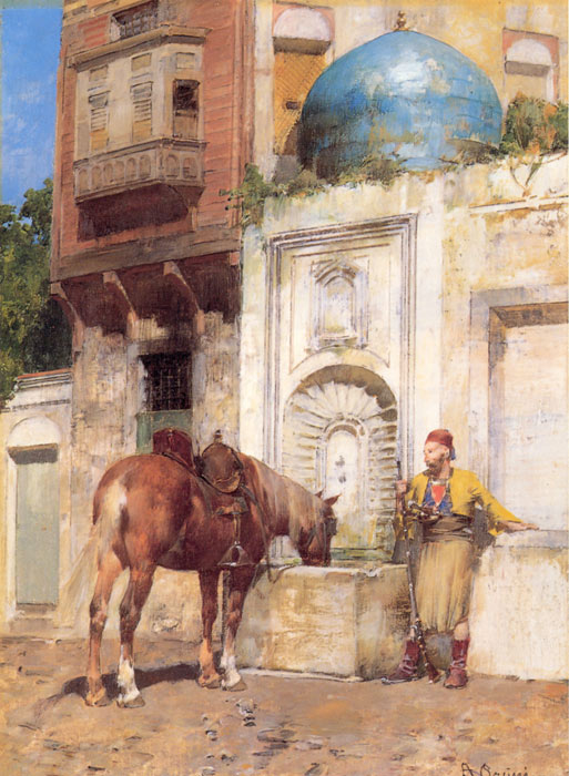 Paintings Reproductions Pasini, Alberto At the Well