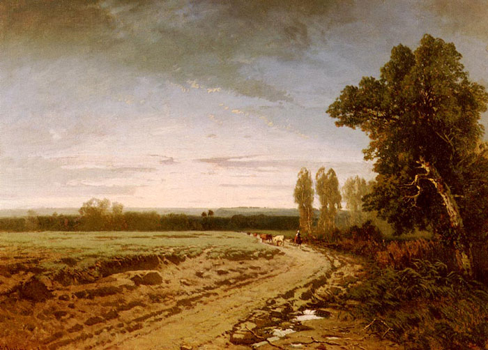 Paintings Reproductions Pasini, Alberto Going To The Pasture, Early Morning, 1853
