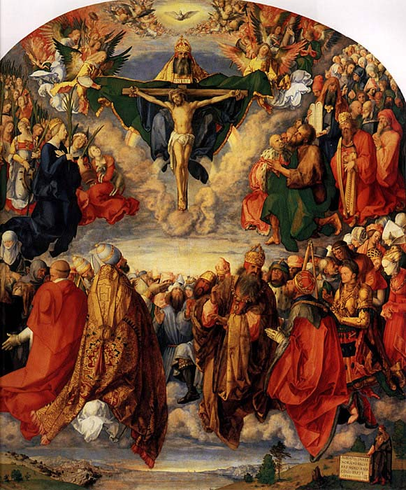 Albrecht Durer  Reproductions-Adoration of the Trinity, 1511