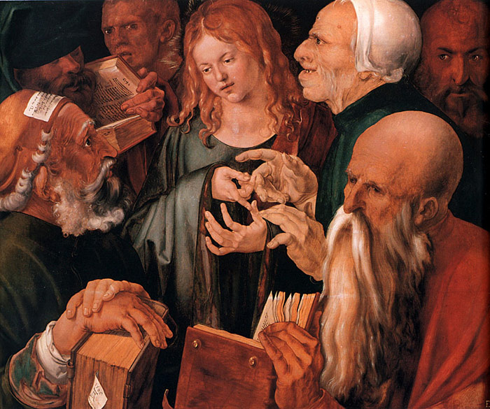 Albrecht Durer Reproductions-Christ among the Doctors, 1506