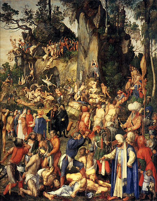 Albrecht Durer  Reproductions-Matyrdom of the Ten Thousand, 1508