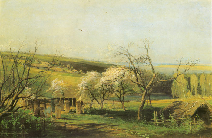Paintings Reproductions Savrasov, Alexey Kondratyevich Rural Landscape, 1867