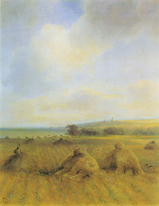 Alexey Kondratyevich  Savrasov Reproductions-The End of The Summer Near Volga, 1873