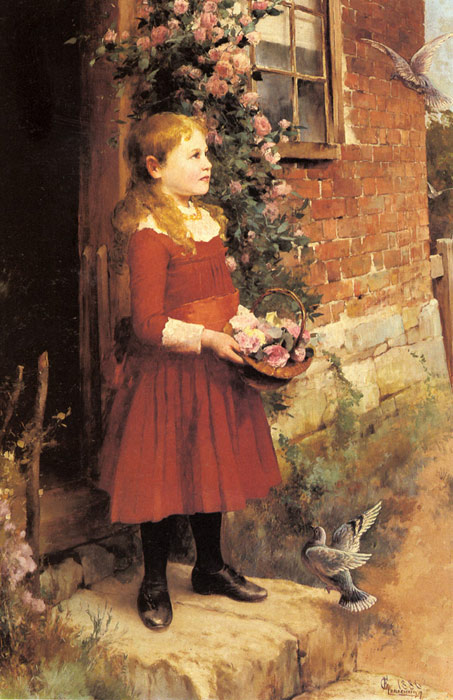 Paintings Reproductions Glendening, Alfred The Youngest Daughter of J.S. Gabriel, 1886