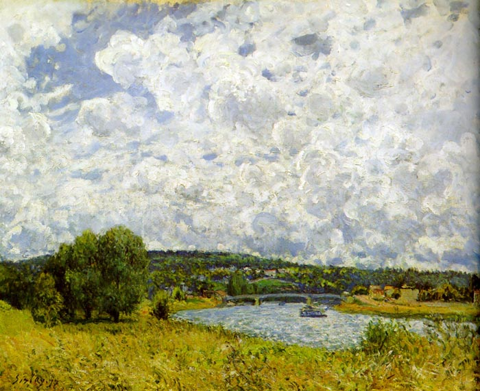 Paintings Reproductions Sisley, Alfred The Seine at Suresnes, 1877