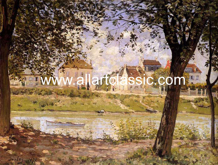 Paintings Reproductions Sisley, Alfred Villeneuve-la-Garenne, 1872