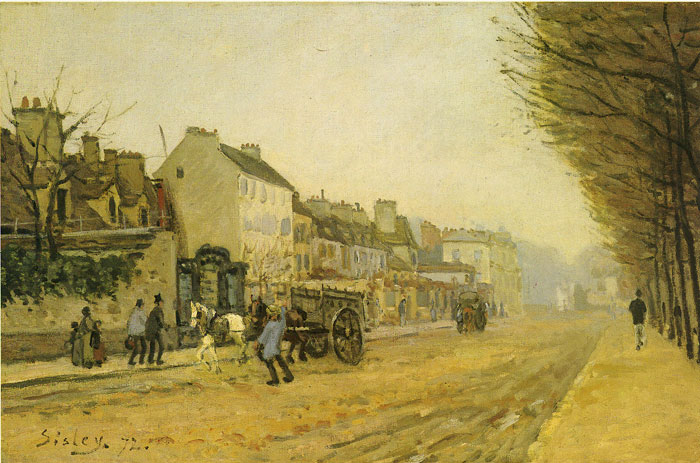 Alfred Sisley Reproductions-Street in Argentois, 1872