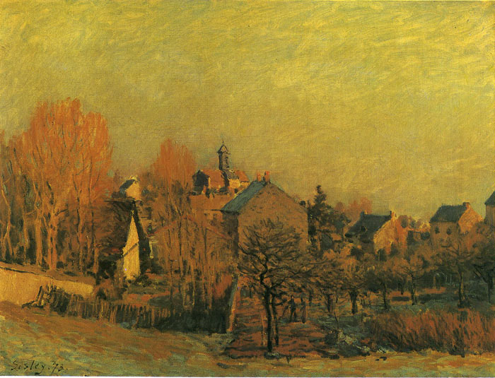 Paintings Reproductions Sisley, Alfred Cold, 1873