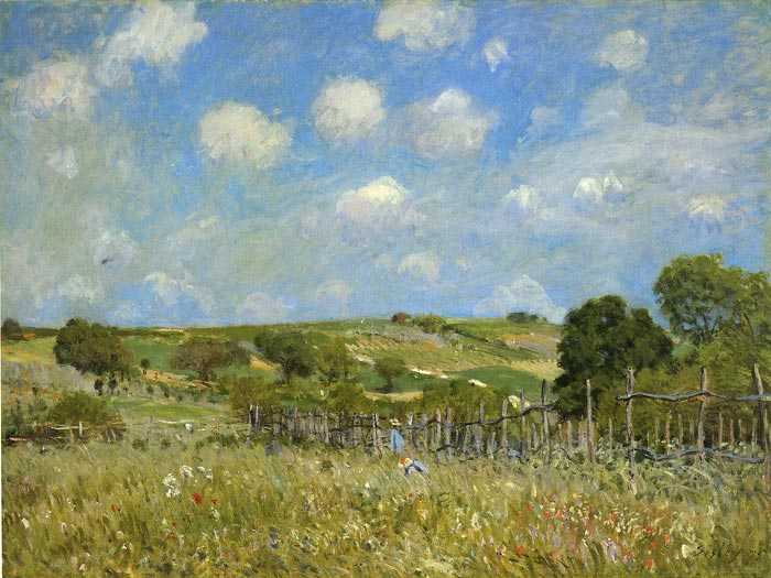 Paintings Reproductions Sisley, Alfred Summer, 1875
