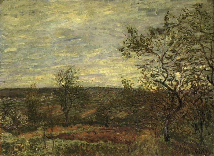 Paintings Reproductions Sisley, Alfred Windy Day at Veneux, 1882