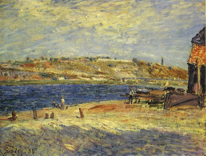 Alfred Sisley Reproductions-Banks of Saint-Mammes, 1884