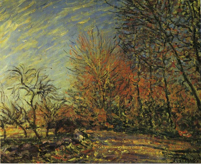 Paintings Reproductions Sisley, Alfred The End of the Forest, 1885