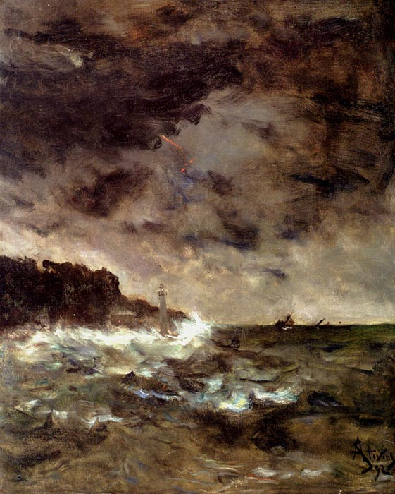Paintings Reproductions Stevens, Alfred A Stormy Night, 1892