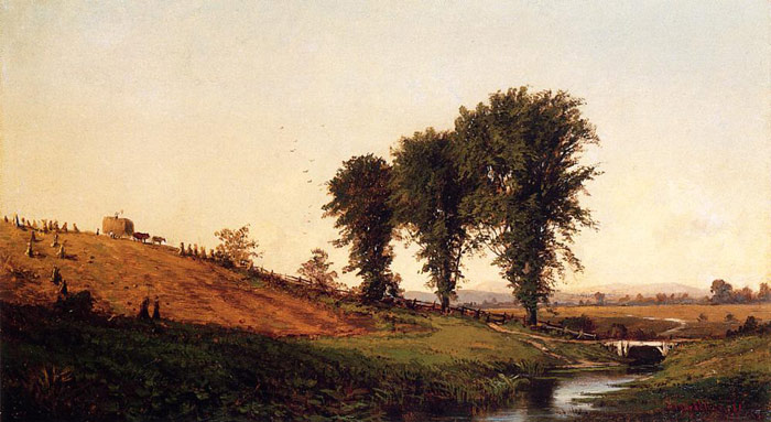 Alfred Thompson Bricher Reproductions-Haying, 1861
