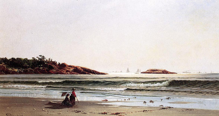 Alfred Thompson Bricher Reproductions-Indian Rock, Narragansett Bay, c.1871