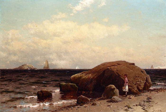 Paintings Reproductions Bricher, Alfred Thompson Looking out to Sea