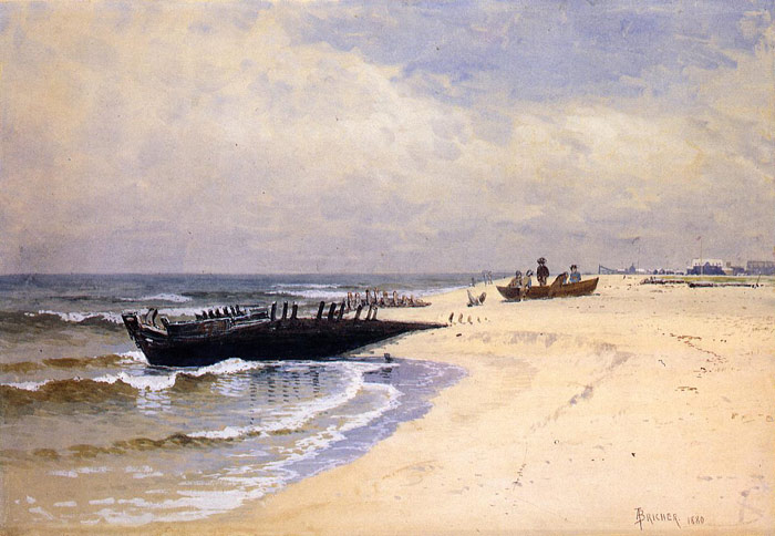 Alfred Thompson Bricher Reproductions-Low Tide, 1880