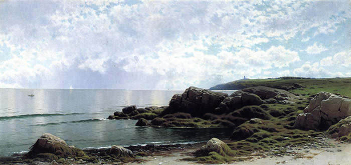 Alfred Thompson Bricher Reproductions-Low Tide at Swallow Tail Cove, c.1890-1900