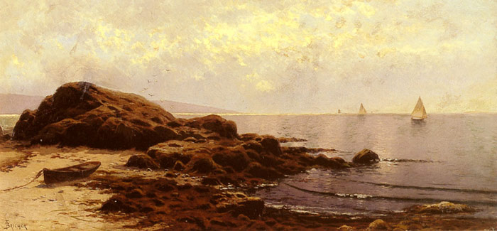 Alfred Thompson Bricher Reproductions-Low Tide, Bailey's Island, Maine