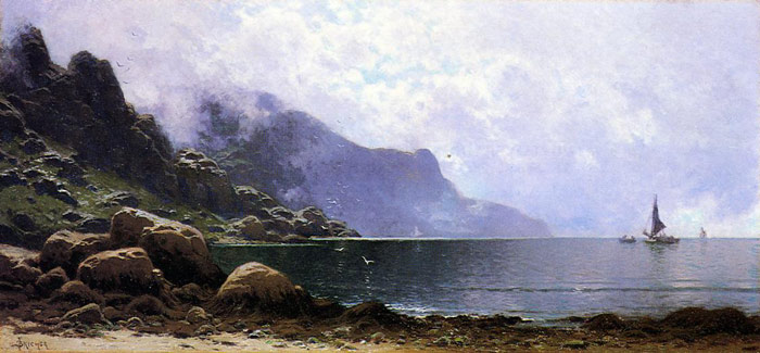 Alfred Thompson Bricher Reproductions-Mist Clearing, Grand Manan
