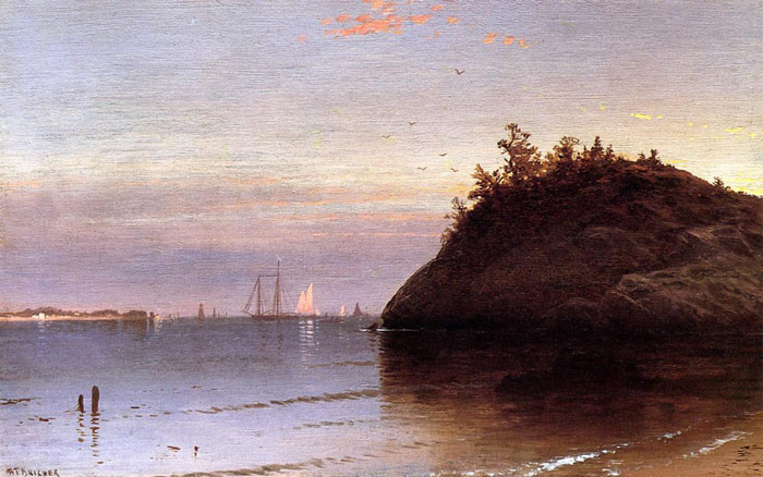 Paintings Reproductions Bricher, Alfred Thompson Narragansett Bay