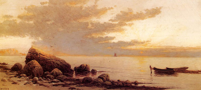 Sunset Bricher, Alfred Thompson Painting Reproductions