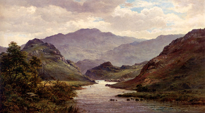 Paintings Reproductions Breanski Snr, Alfred de The River Colwyn, North Wales, 1872