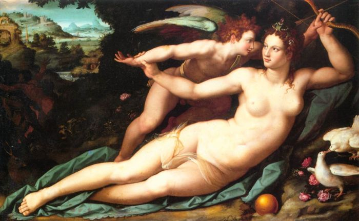 Paintings Reproductions Allori, Alesandro Venus and Cupid