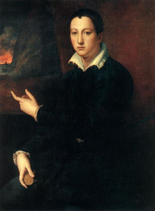 Alesandro Allori Reproductions-Portrait of a Young Man