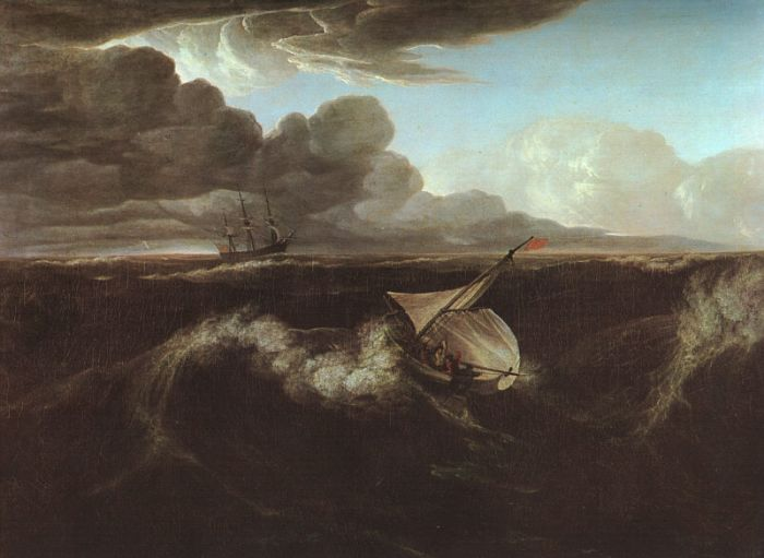 Washington Allston Reproductions-Storm Rising at Sea, 1804