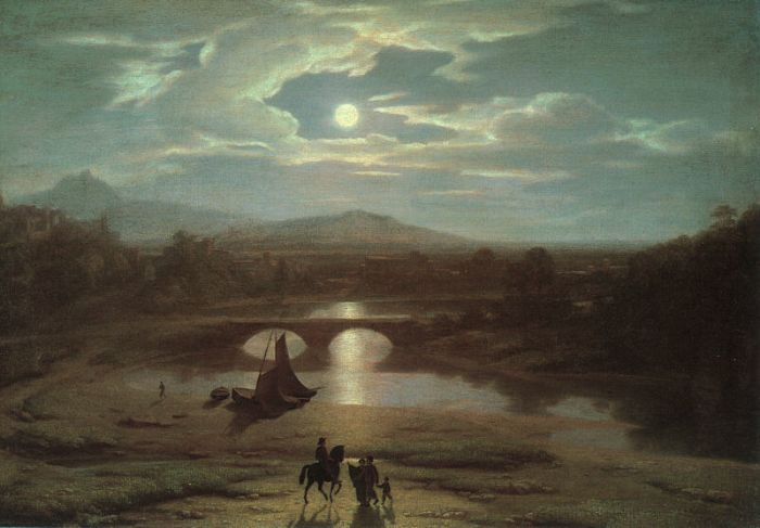 Washington Allston Reproductions-Moonlit Landscape , 1809
