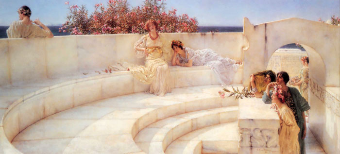 Sir Lawrence Alma-Tadema Reproductions-Under the Roof of the Blue Ionian Weather