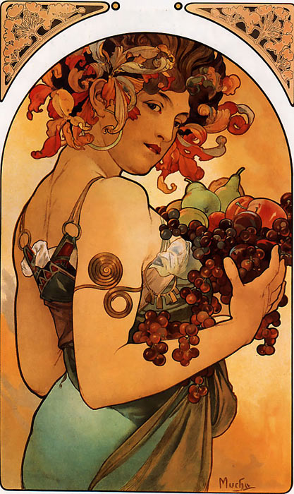 Mucha Paintings Reproductions 1
