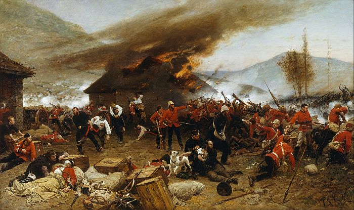 Alphonse-Marie-Adolphe de NeuvilleReproductions-The Defence of Rorke's Drift, 1879