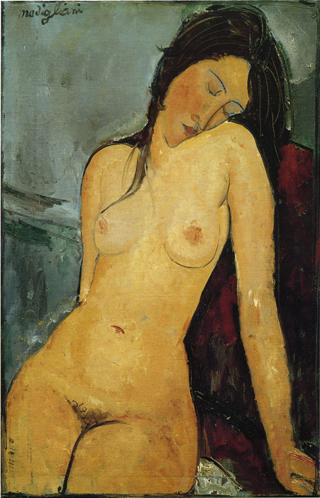 Paintings Reproductions Modigliani, Amedeo Female  Nude, 1916